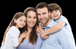 familia sonriendo dentista